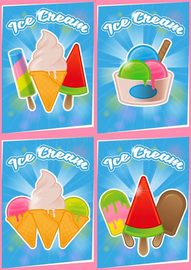 Placez la crème glacée d'affiche illustration de vecteur