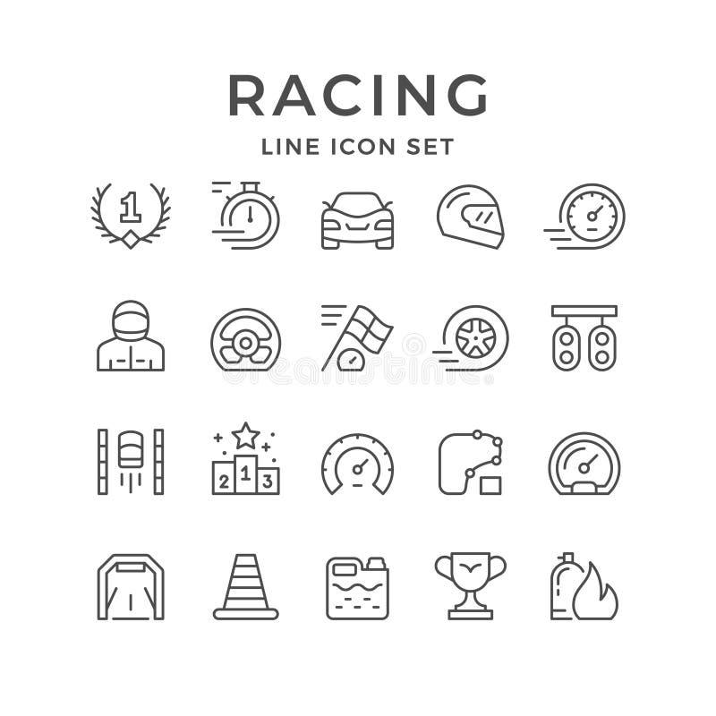 Placez la ligne icônes de l'emballage illustration de vecteur