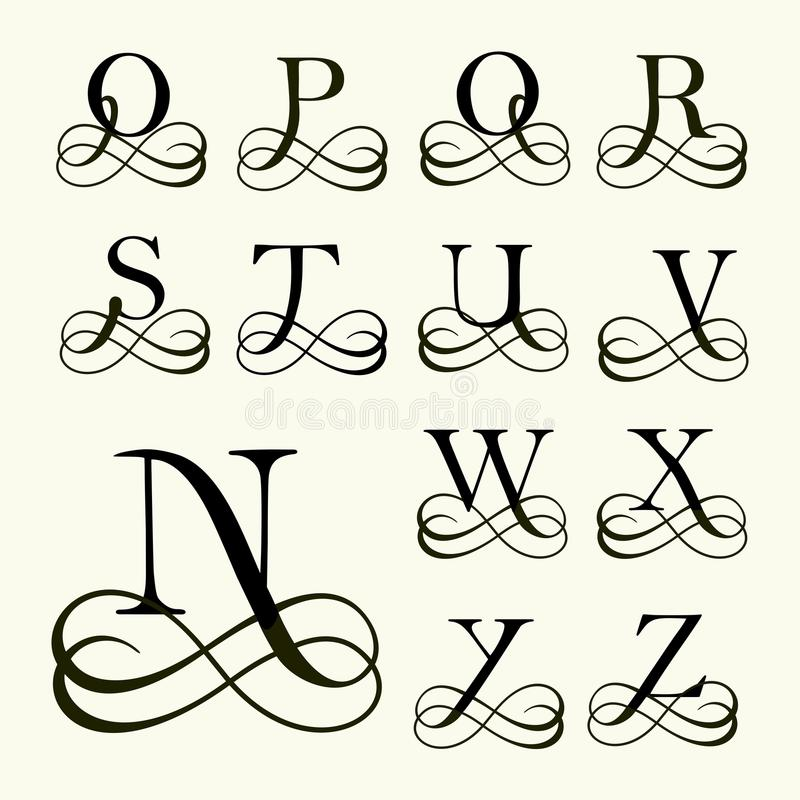 Placez la majuscule pour des monogrammes et des logos illustration de vecteur illustration du - Z en majuscule ...