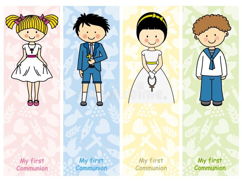 Placez la première communion illustration libre de droits