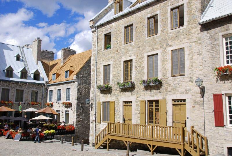 Placez la région royale d'endroit du vieux Québec photo libre de droits