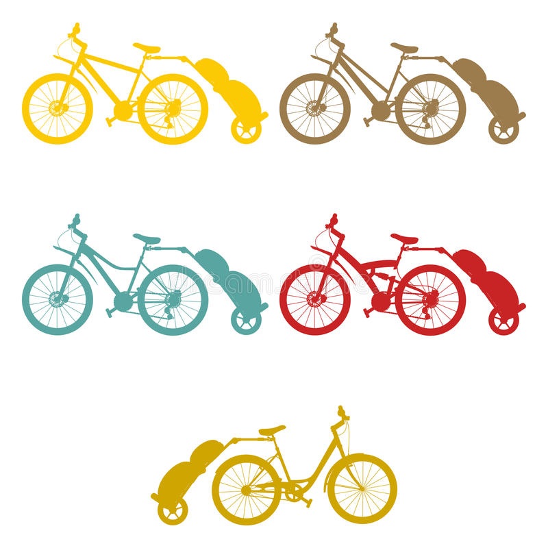 Placez la remorque de vélo illustration libre de droits