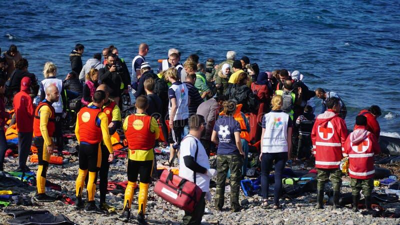 Placez le bateau nouvellement arrivé photos libres de droits