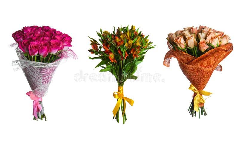 Placez le bouquet de fleurs d'isolement illustration libre de droits