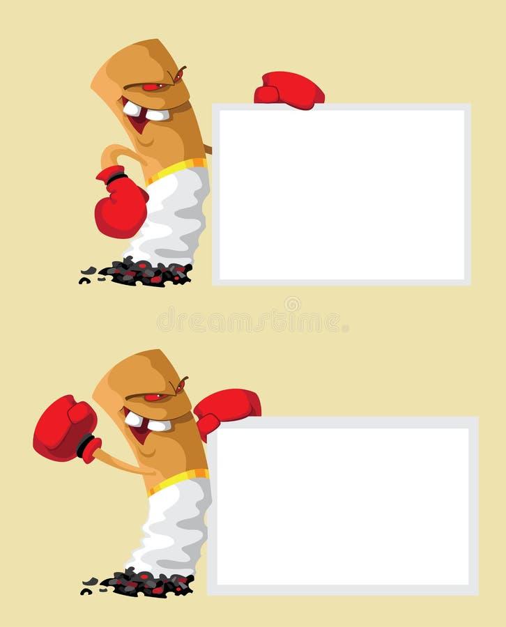 Placez le boxeur de cigarette avec le blanc illustration stock