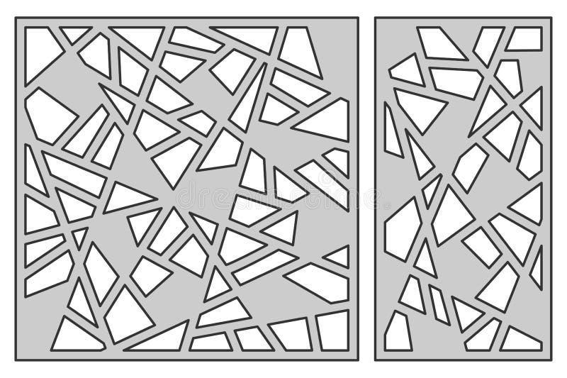 Placez le calibre pour la coupure Ligne abstraite configuration Coupe de laser Rati illustration stock