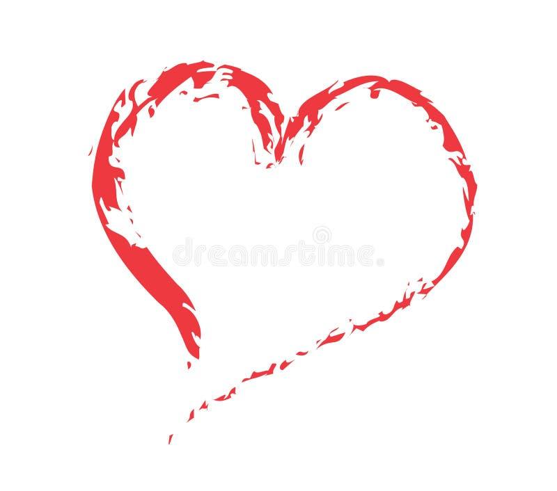 Placez le coeur de dessins illustration de vecteur