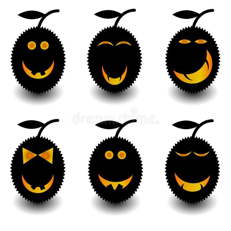 Placez le durian pour Halloween photos stock
