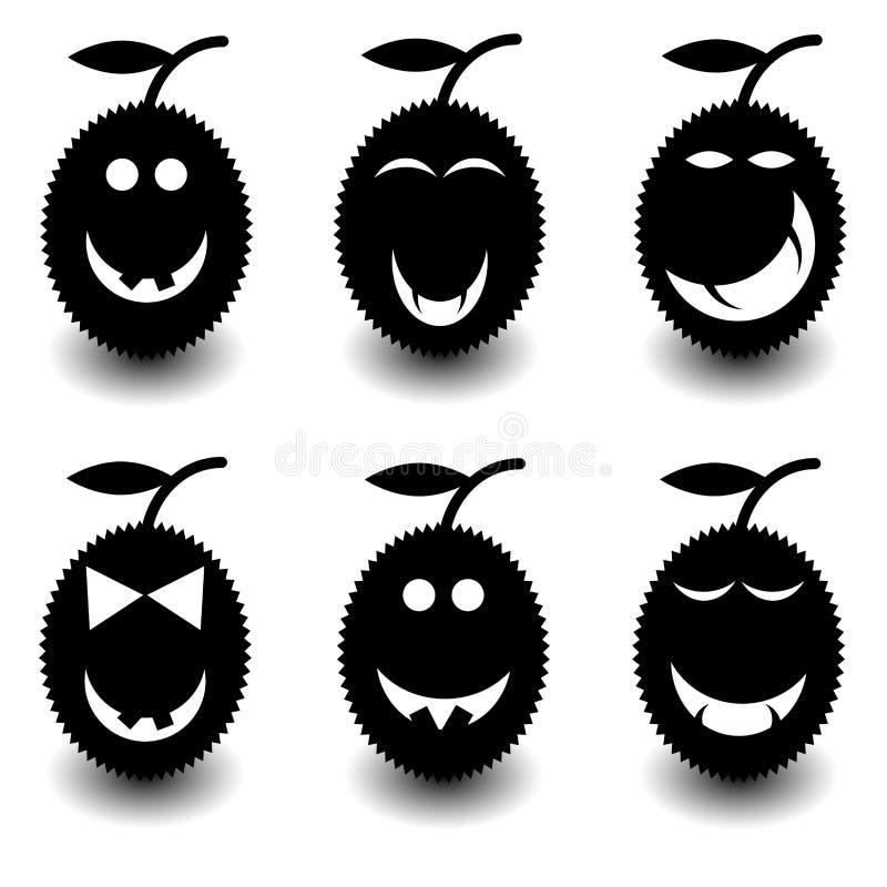 Placez le durian pour Halloween illustration de vecteur