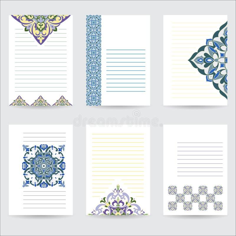 Placez le mandala de couleur de calibre dans le style italien de majolique pour vos lettres de conception, cartes postales, invit illustration de vecteur