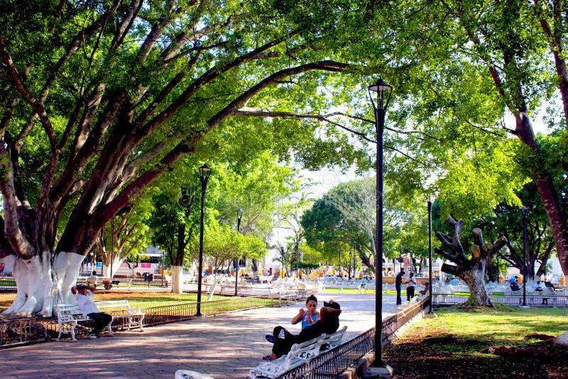 Placez le mexique de Valladolid photos stock