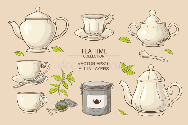 placez le thé illustration stock