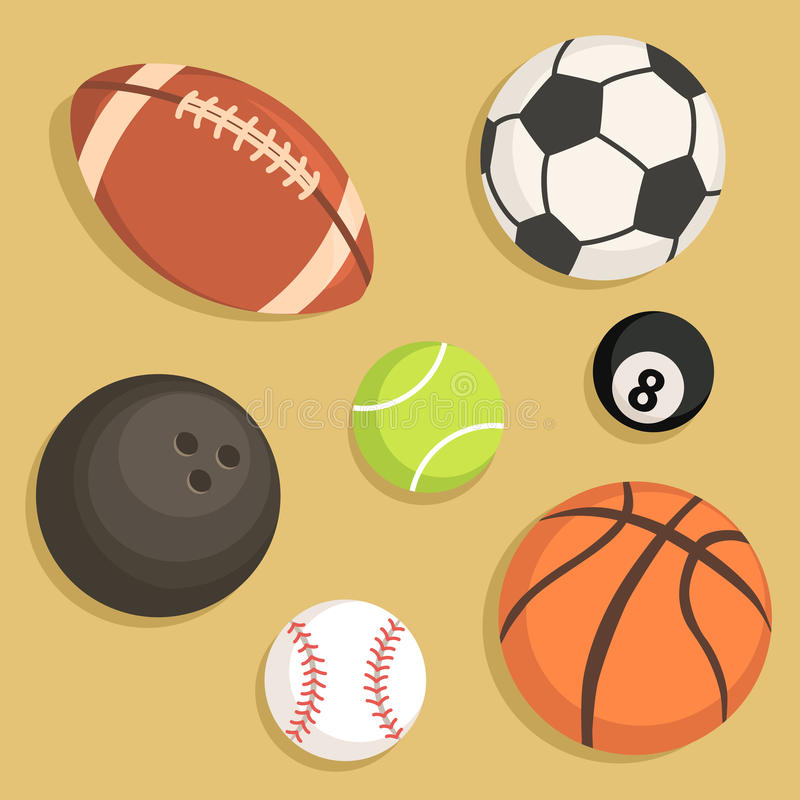 Placez le vecteur de boules de sport illustration stock