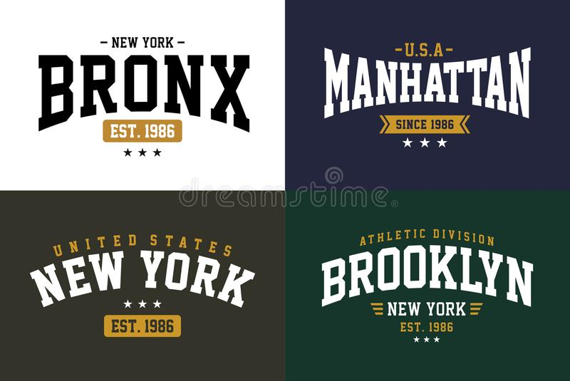 Placez le vecteur de graphique de T-shirt de New York City de typographie illustration de vecteur
