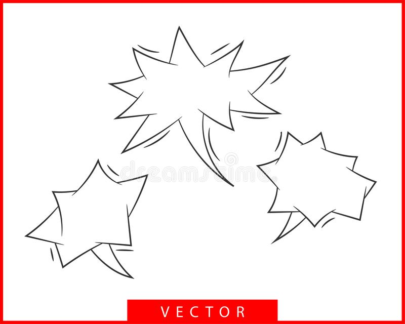 Placez le vecteur de la parole de bulles d'entretien Éléments vides vides de conception d'icône de bulle Causerie sur la ligne ca illustration de vecteur
