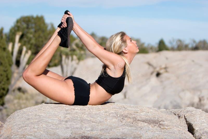 placez le yoga image stock