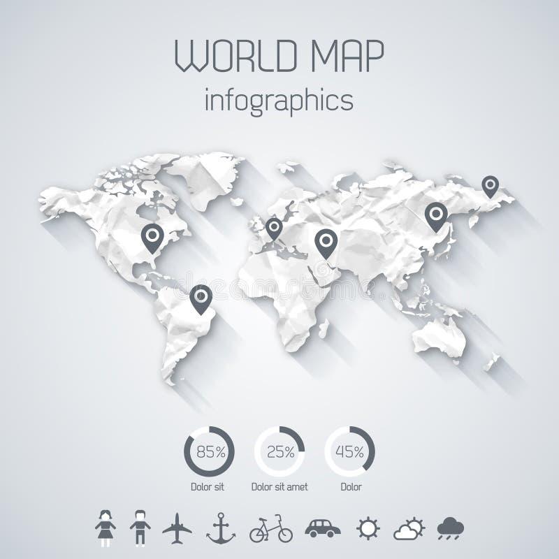 Placez les éléments de l'infographics illustration libre de droits