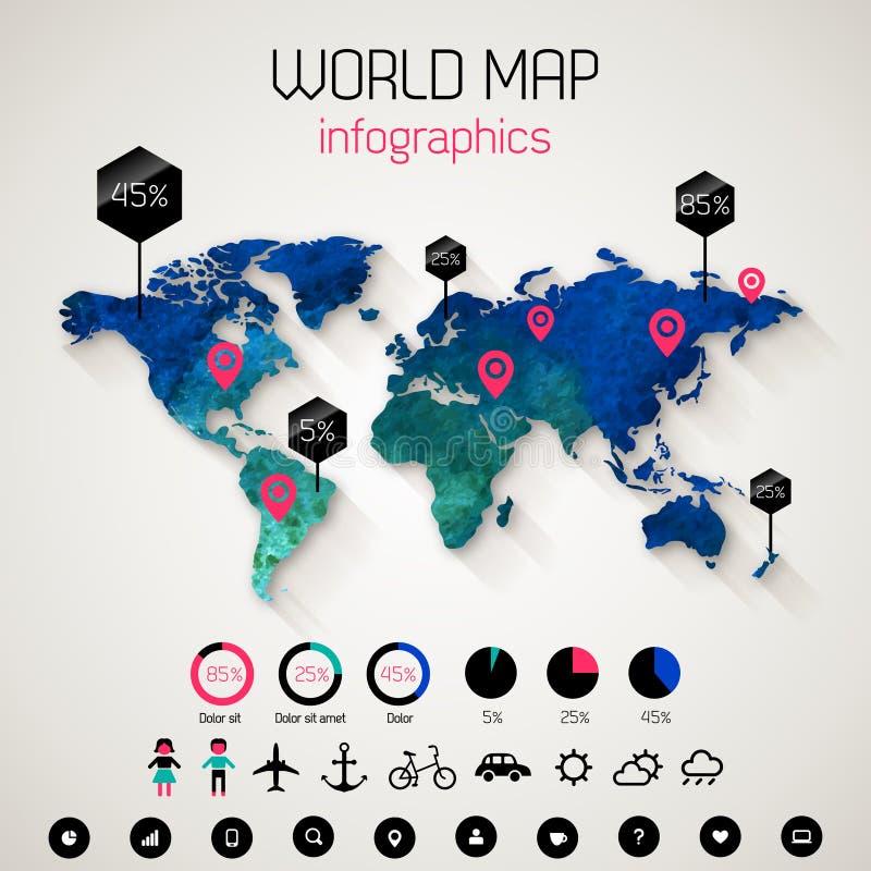 Placez les éléments de l'infographics illustration stock