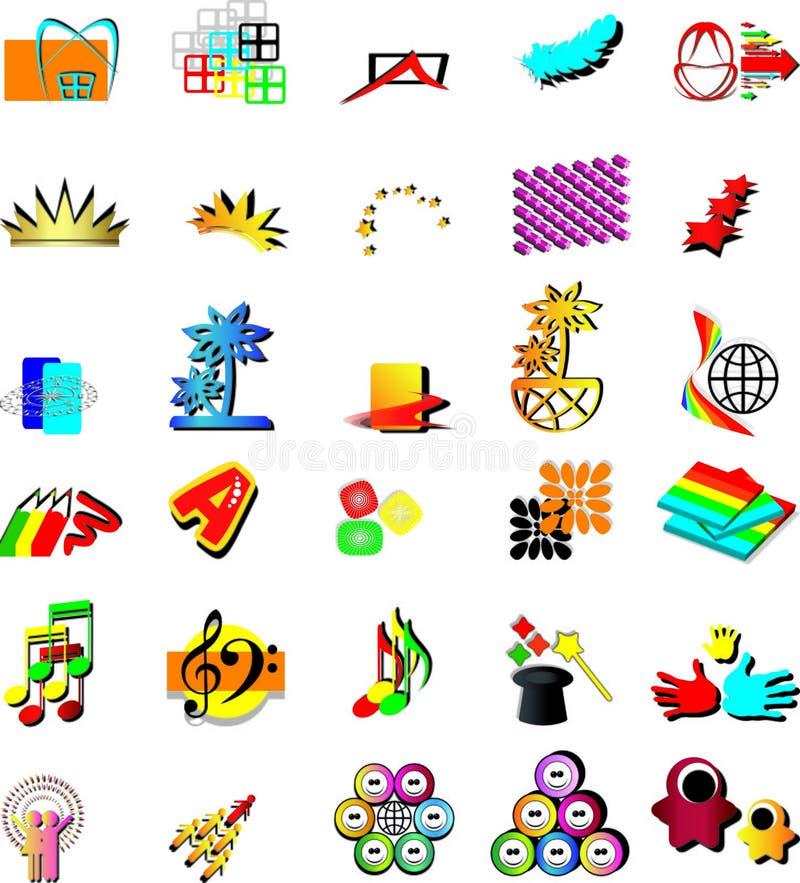 Placez les éléments de logo de vecteur   illustration stock