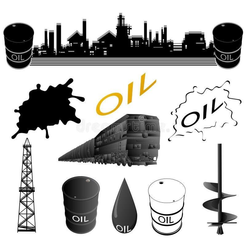 Placez les équipements d'industrie pétrolière  illustration stock