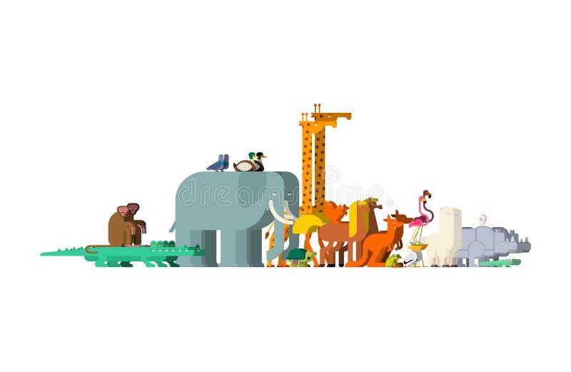 Placez les animaux de famille Paires de bêtes Animal de Noé Vecteur illustration stock