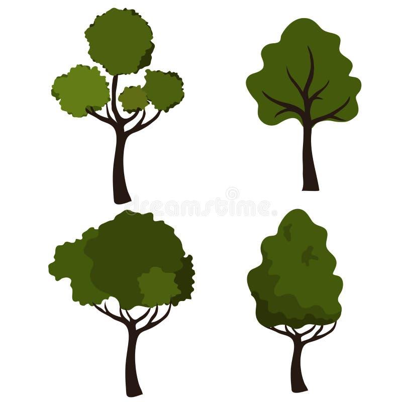 Placez les arbres illustration de vecteur