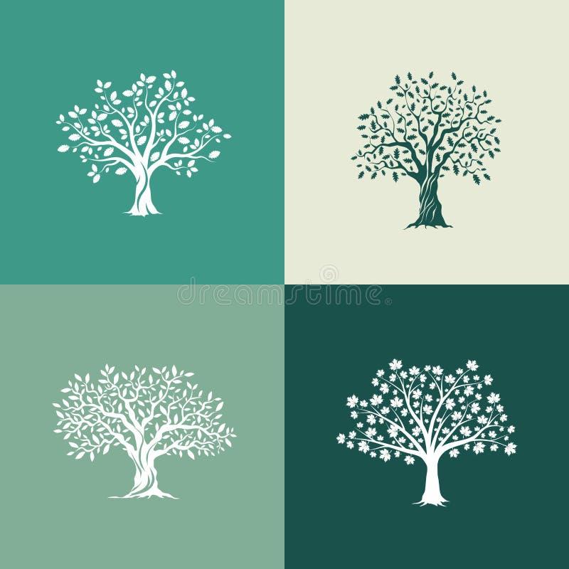 placez les arbres de silhouette illustration de vecteur