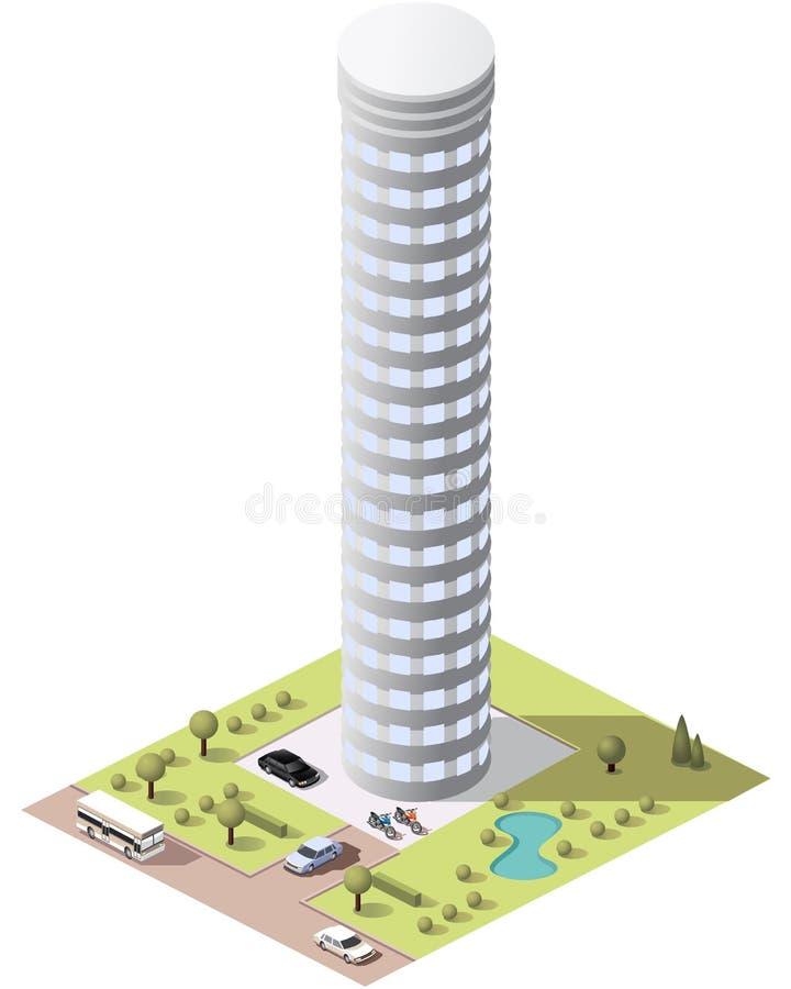 Download Placez Les Bâtiments De Tuiles Illustration Stock - Illustration du herbe, ville: 77154498