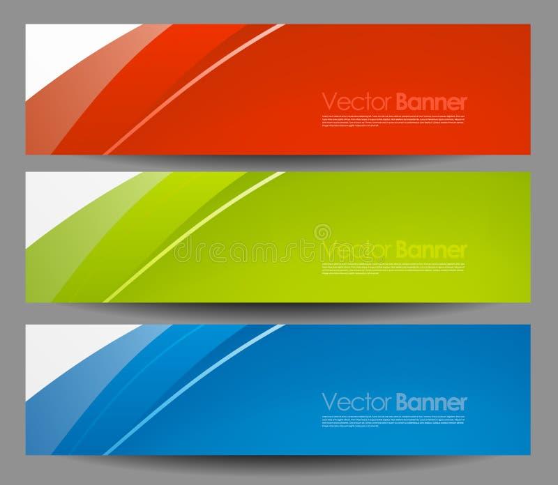 Placez les bannières de couleur d'affaires de vecteur illustration de vecteur
