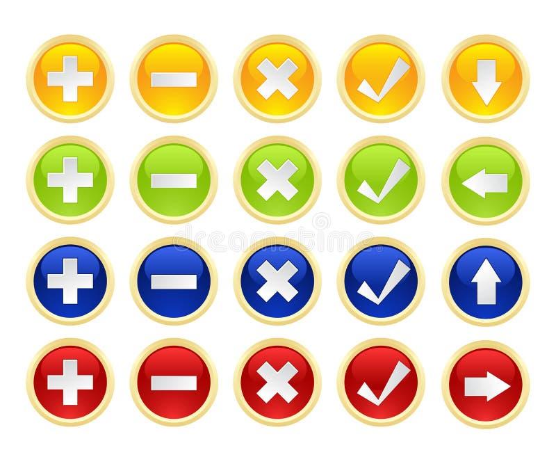 Placez les boutons illustration stock