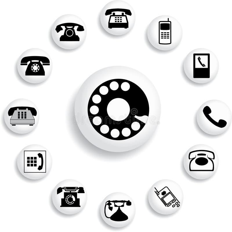 Placez les boutons - 32_B. Téléphones illustration libre de droits
