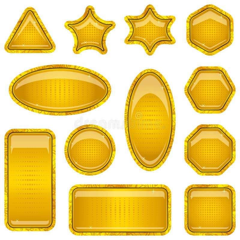 Placez les boutons d'or illustration stock