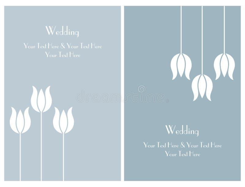 Placez les cartes d'invitation de mariage illustration stock