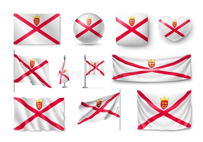 Placez les drapeaux de débardeur, bannières, bannières, symboles, icône plate illustration de vecteur