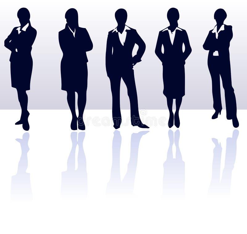 placez les femmes de silhouettes illustration de vecteur