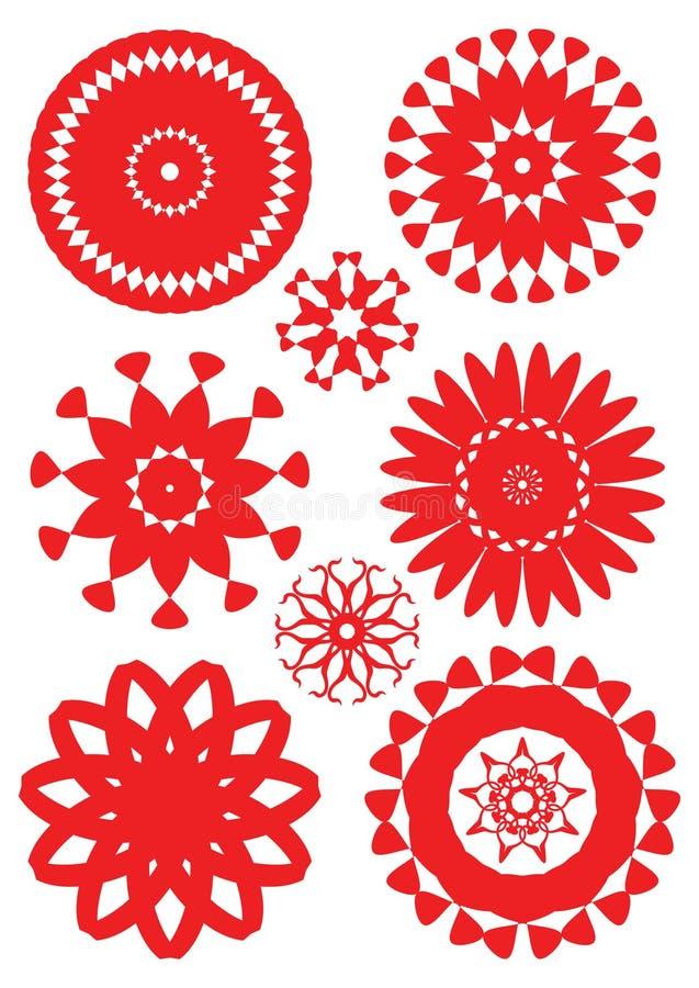 Placez les fleurs illustration de vecteur