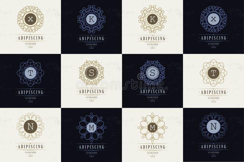 Placez les flourishes de luxe de calibre de logos illustration libre de droits