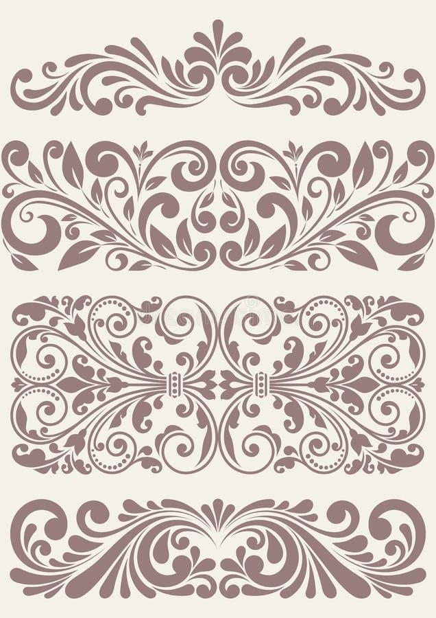 Placez les frontières fleuries de vintage illustration de vecteur