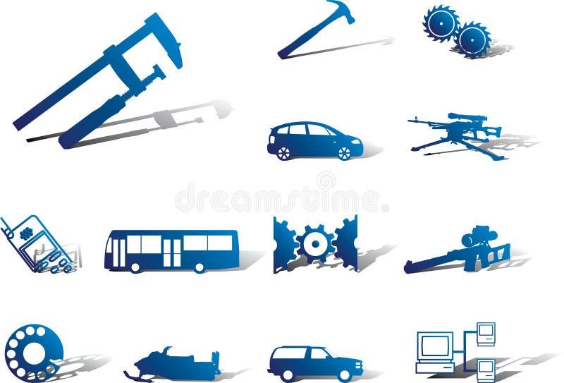 Placez les graphismes - 108A. Machines et technologies illustration de vecteur