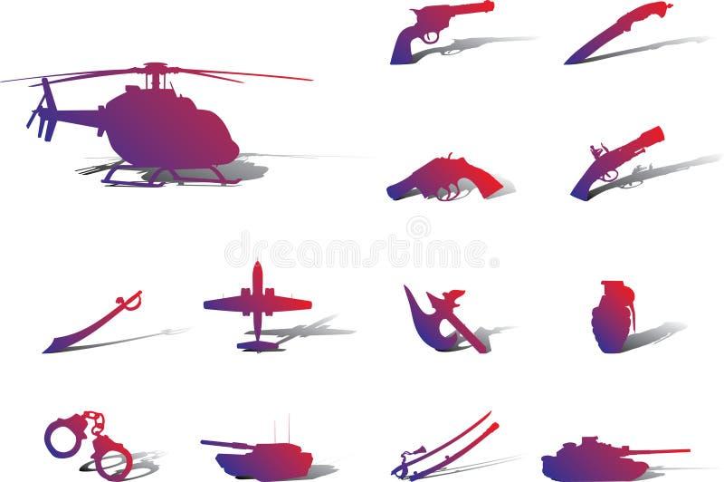 Download Placez Les Graphismes - 113A. Arme Illustration de Vecteur - Illustration du armée, armé: 8669370