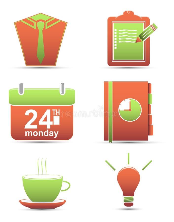 Placez les graphismes affaires de gestion du temps illustration de vecteur