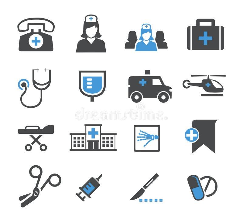Placez les icônes de médecine image stock