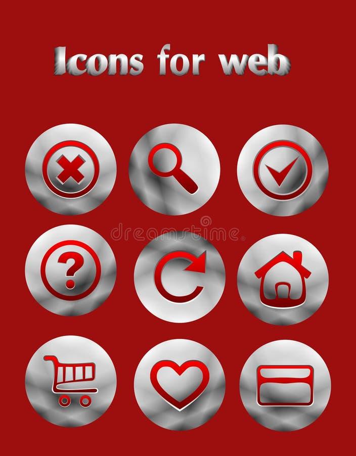 Download Placez Les Icônes De Web De Fer Illustration de Vecteur - Illustration du lustré, abstrait: 45371932
