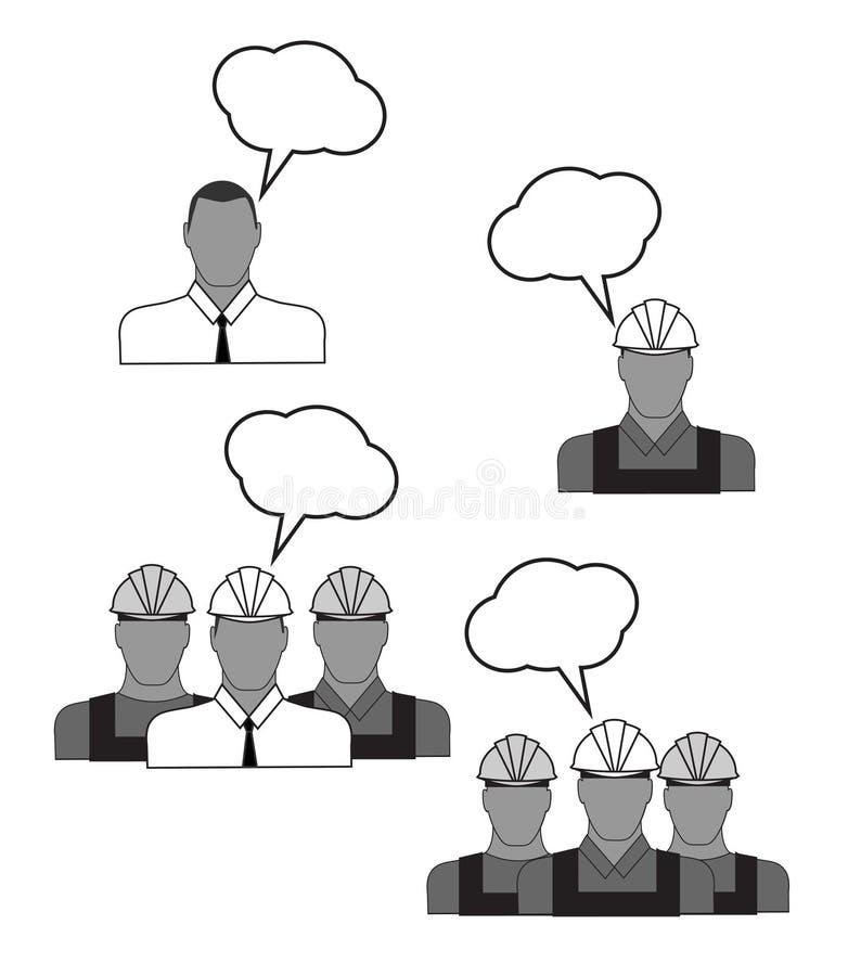 Placez les icônes des constructeurs illustration stock