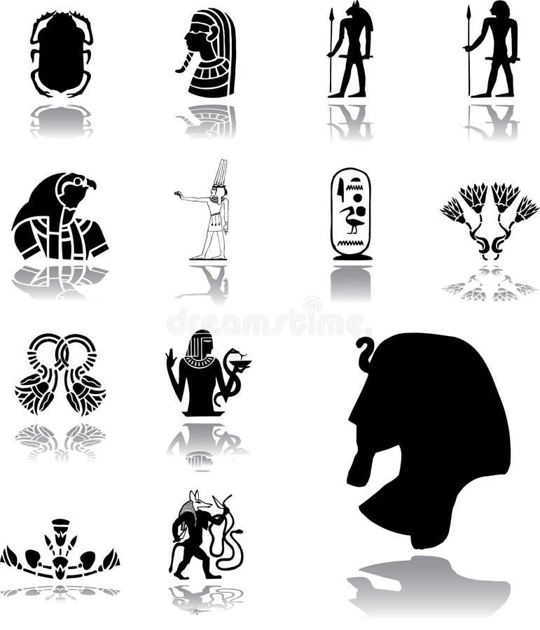 Placez les icônes - 156. l'Egypte illustration stock