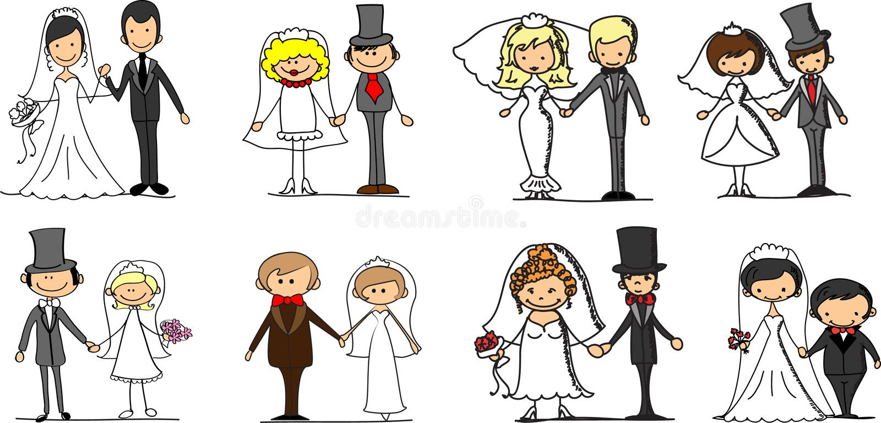 Placez les illustrations de mariage, vecteur illustration de vecteur