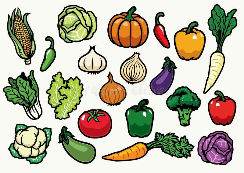 placez les légumes illustration libre de droits