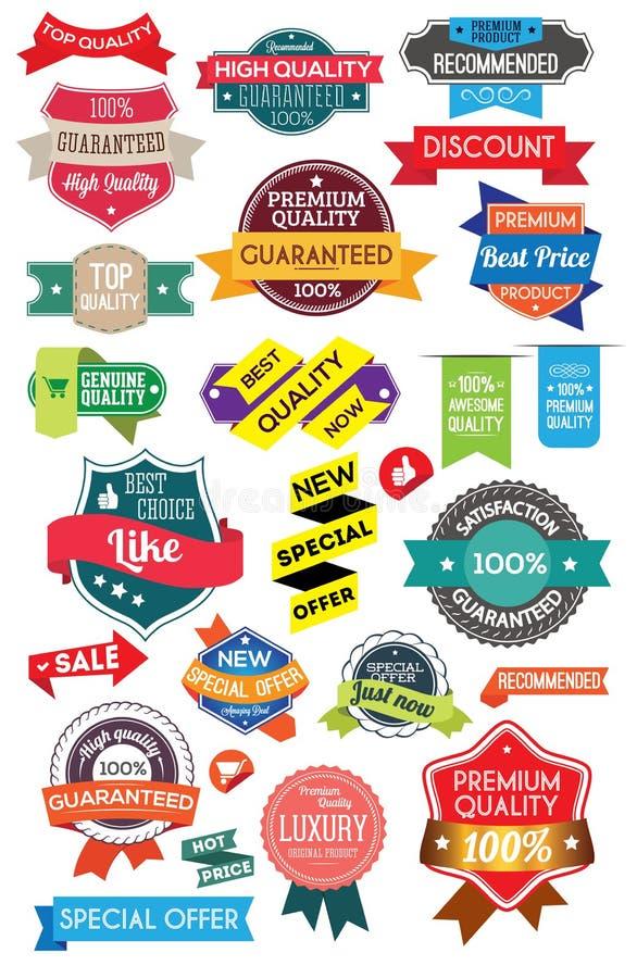 Placez les labels de vente illustration libre de droits