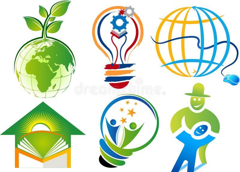 Placez les logos de collection illustration libre de droits