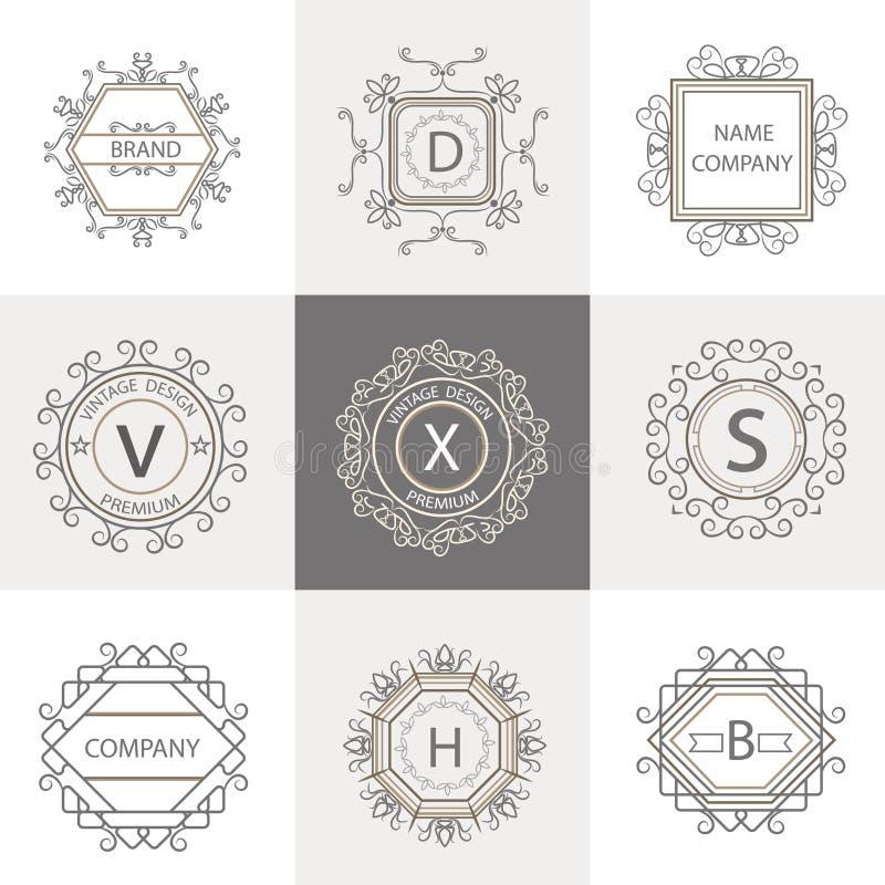 Placez les logos, ornement de signes d'affaires illustration libre de droits